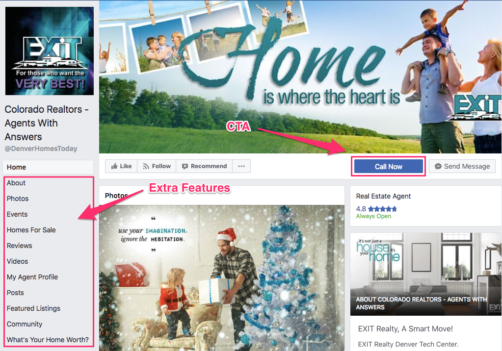 Facebook cta for real estate agencies
